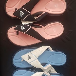 2 Pairs Adidas Sandals Slippers NWT